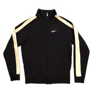 Nike Track Jacket Full Zip Vintage Striped Swoosh